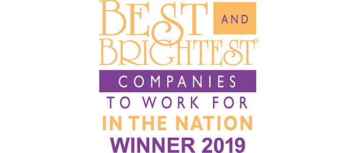 Best and Brightest companies in the nation 2019 logo