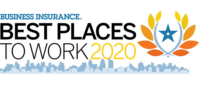 Business Insurance 2020 Best Places to Work logo